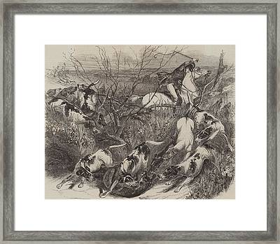 The Last Fox Of The Season Framed Print by English School