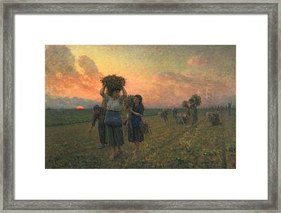 The Last Gleanings Framed Print by Jules Breton