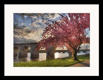 Riverfront Park Digital Art Framed Prints