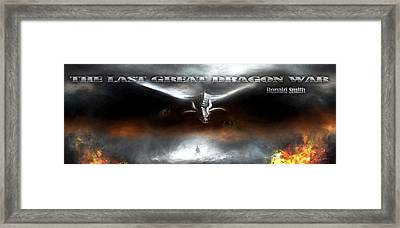 The Last Great Dragon War Framed Print by Peter Chilelli