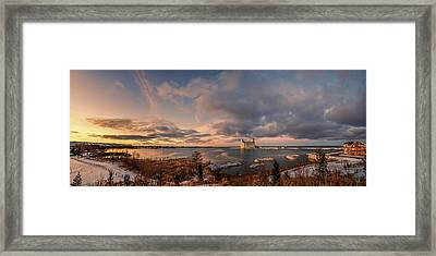 The Last Ice On The Bay Framed Print by Jeff S PhotoArt