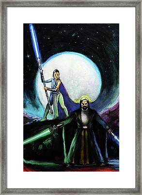 The Last Jedi Framed Print by Chris Bahn