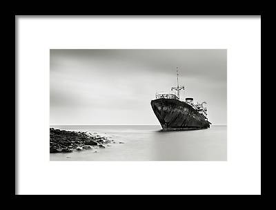 Shipwreck Framed Prints