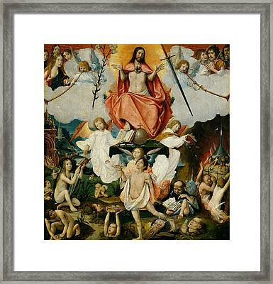 The Last Judgment Framed Print by Jan Provost