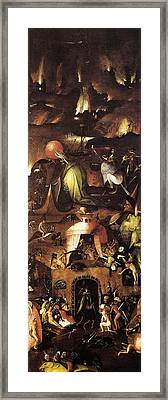 The Last Judgment, Right Wing, Hell Framed Print