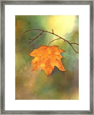 The Last Leaf Framed Print by Gladys Folkers
