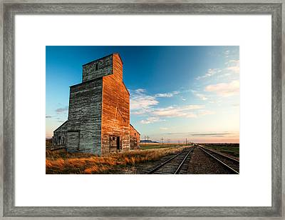 The Last Light At Laredo Framed Print by Todd Klassy
