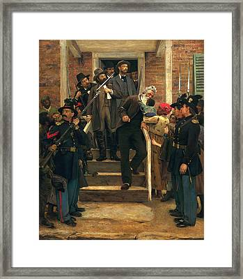 The Last Moments Of John Brown Framed Print