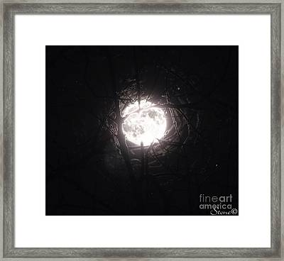 The Last Nights Moon Framed Print