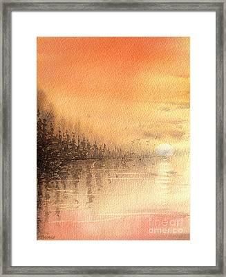The Last Of Autumn Framed Print