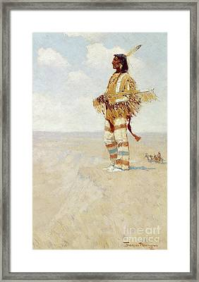The Last Of His Race  The Vanishing American, 1908 Framed Print by Frederic Remington