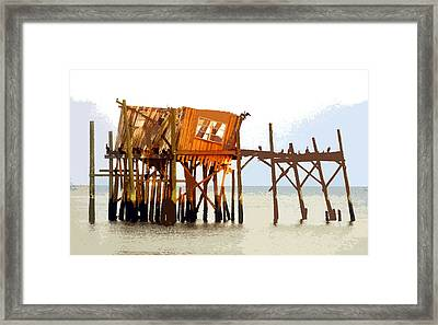 The Last Of Old Cedar Key Framed Print by David Lee Thompson