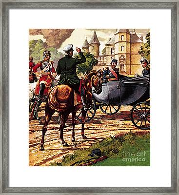 The Last Of The French Kings Framed Print by Pat Nicolle