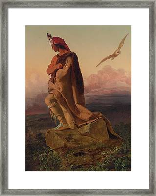 The Last Of The Mohicans Framed Print by Emanuel Gottlieb Leutze