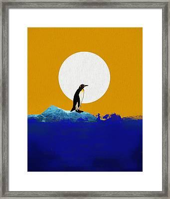The Last Penguin Framed Print