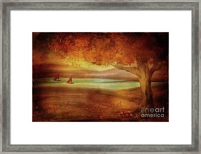 The Last Sail Of The Season  Framed Print