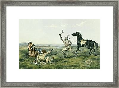 The Last Shot Framed Print by Currier and Ives