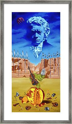 Framed Print featuring the painting The Last Soldier An Ode To Beethoven by Paxton Mobley
