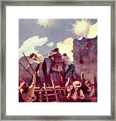 The Last Stand At The Alamo Framed Print by Newell Convers Wyeth