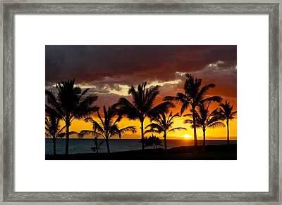 The Last Sunset Framed Print by James Walsh