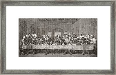 The Last Supper After Leonardo Da Framed Print