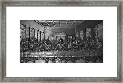 The Last Supper Framed Print by Christopher Kirby