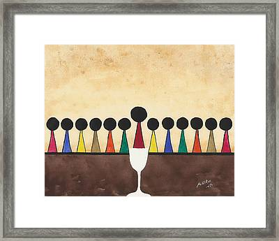 The Last Supper  Framed Print by Edwin Alverio
