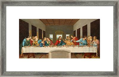 The Last Supper Framed Print by Giovanni Rapiti
