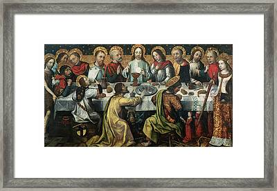 The Last Supper Framed Print by Godefroy