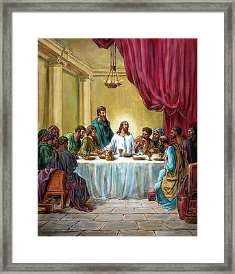 The Last Supper Framed Print by John Lautermilch
