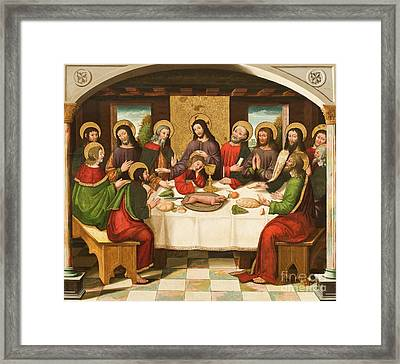 The Last Supper Framed Print by Master of Portillo