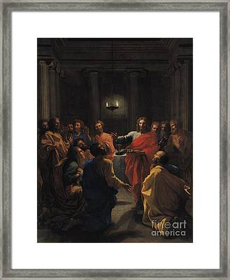 The Last Supper Framed Print by Nicolas Poussin