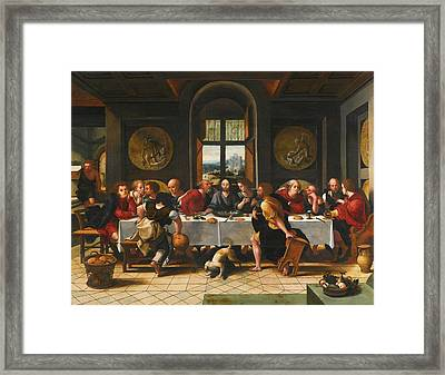 The Last Supper Framed Print by Pieter Coecke