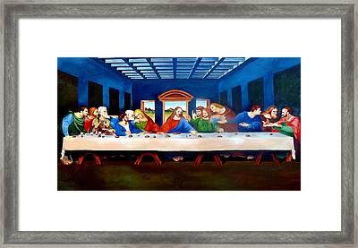 The Last Supper Framed Print by Ramil Roscom Guerra