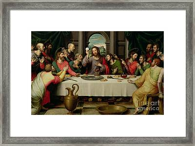 The Last Supper Framed Print by Vicente Juan Macip