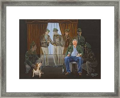 Framed Print featuring the painting The Last Survivor by Karen Wilson