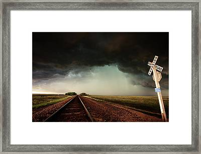 The Last Train To Darksville Framed Print