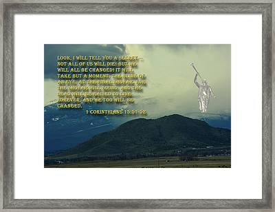 Framed Print featuring the photograph The Last Trump by Tikvah's Hope
