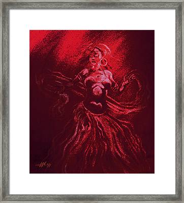 The Last Veil Of Isis Framed Print by Christo Wolmarans