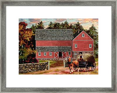 The Last Wagon Framed Print by Ron Chambers