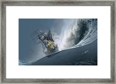 The Last Wave Framed Print by George Grie
