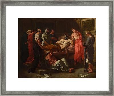 The Last Words Of The Emperor Marcus Aurelius Framed Print by Eugene Delacroix