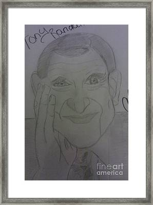 The Late Actor Tony Randall Framed Print