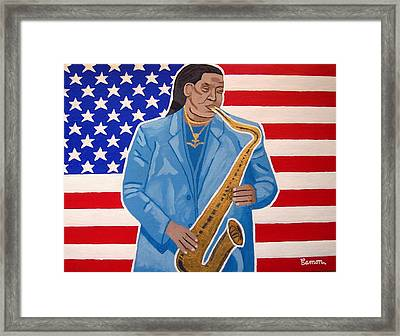 The Late Great Clarence Clemons Framed Print