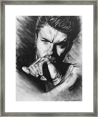 The Late Great George Michaels Framed Print by Darryl Matthews