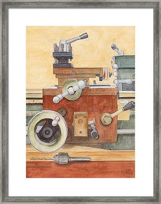 The Lathe Framed Print