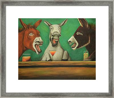 The Drunken Asses Framed Print