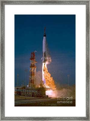 The Launch Of The Mercury Atlas Framed Print