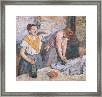 The Laundresses Framed Print by Edgar Degas
