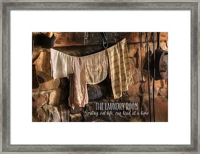 The Laundry Room Framed Print